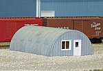 Quonset Hut (1-13/16'' X 2-7/8'' X 1/8'') -- Model Railroad Building -- N Scale -- #710