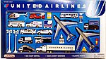 United Airlines Die Cast Playset (30pc Set)