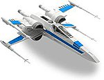 Resistance X-Wing Fighter -- Snap Tite Plastic Model Figure -- #851632