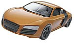 Audi R8 -- Snap Tite Plastic Model Vehicle Kit -- 1/25 Scale -- #851687