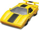 Lamborghini Countach -- Snap Tite Plastic Model Vehicle Kit -- 1/32 Scale -- #851753