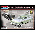 1957 Ford Del Rio Ranch Wagon 2n1 -- Plastic Model Car Kit -- 1/25 Scale -- #854193