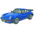 Porsche 911 Turbo -- Plastic Model Car Kit -- 1/24 Scale -- #854330