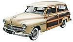 1949 Mercury Wagon -- Plastic Model Car Kit -- 1/25 Scale -- #854996