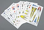 Dry Transfer Decal H-J Assortment #3 (6) -- Pinewood Derby Decal and Finishing -- #y8671