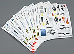 Peel & Stick Decal D-F Assortment #2 (6) -- Pinewood Derby Decal and Finishing -- #y8675
