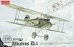 Albatros D.I -- Plastic Model Airplane Kit -- 1/72 Scale -- #rd0001