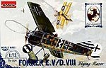 Fokker E.V Flying Razor -- Plastic Model Airplane Kit -- 1/72 Scale -- #rd0004