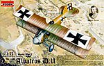 Albatros D.II -- Plastic Model Airplane Kit -- 1/72 Scale -- #rd0006