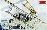 Fokker D.VI -- Plastic Model Airplane Kit -- 1/72 Scale -- #rd0007