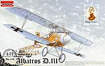 Albatros D.III -- Plastic Model Airplane Kit -- 1/72 Scale -- #rd0012