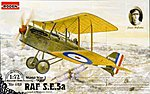 SE5A RAF with Hispano Suiza -- Plastic Model Airplane Kit -- 1/72 Scale -- #rd0023