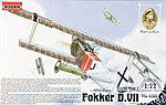 Fokker D.VII ALB Late -- Plastic Model Airplane Kit -- 1/72 Scale -- #rd0035