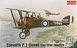 Sopwith F.1 Camel 2 Seater -- Plastic Model Airplane Kit -- 1/72 Scale -- #rd0054