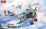 Nieuport 27 -- Plastic Model Airplane Kit -- 1/72 Scale -- #rd0061