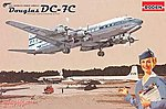 Douglas DC-7C Pan Am -- Plastic Model Airplane Kit -- 1/144 Scale -- #rd0301
