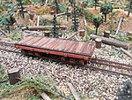 24' Flat Car Kit -- HO Scale Model Train Freight Car -- #2403