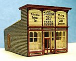 Dakra's Dry Goods Kit -- N Scale Model Railroad Building -- #3023