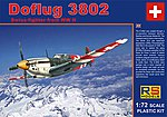 Doflug 3802 Swiss WWII Fighter -- Plastic Model Airplane Kit -- 1/72 Scale -- #92088