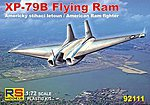 XP79B Flying Ram US Fighter -- Plastic Model Airplane Kit -- 1/72 Scale -- #92111