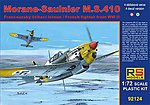 Morane Saulnier MS410 French WWII Fighter -- Plastic Model Airplane Kit -- 1/72 Scale -- #92124