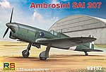 Ambrosini SAI207 WWII Light Fighter -- Plastic Model Airplane Kit -- 1/72 Scale -- #92157