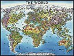 World Map 2000pcs -- Jigsaw Puzzle Over 1000 Piece -- #16683