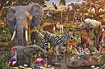 African Animals 3000pcs -- Jigsaw Puzzle Over 1000 Piece -- #17037