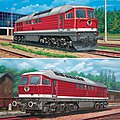 BR 130/230 & BR 131/231 Diesel Loco Set -- Plastic Model Locomotive Kit -- 1/87 Scale -- #02159
