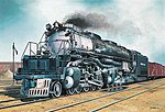 Big Boy Locomotive -- Plastic Model Locomotive Kit -- 1/87 Scale -- #02165