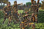 British Infantry (Modern) -- Plastic Model Military Figure Kit -- 1/72 Scale -- #02519