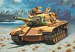 M60 A3 Battle Tank Medium Tank -- Plastic Model Military Vehicle Kit -- 1/72 Scale -- #03140