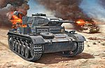 PzKpfw II Ausf F WWII Tank -- Plastic Model Military Vehicle Kit -- 1/76 Scale -- #03229