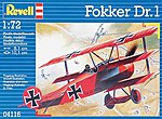 Fokker DR.1 -- Plastic Model Airplane Kit -- 1/72 Scale -- #04116