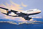 Boeing 747-400 -- Plastic Model Airplane Kit -- 1/144 Scale -- #04219