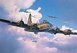 Boeing B-17F Memphis Belle -- Plastic Model Airplane Kit -- 1/48 Scale -- #04297