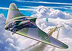 Horten Go229 Flying Wing Aircraft -- Plastic Model Airplane Kit -- 1/72 Scale -- #04312