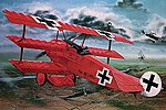 Fokker DR.I Manfred Von Richthofen Triplane -- Plastic Model Airplane Kit -- 1/28 Scale -- #04744