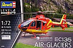 EC135 Air-Glaciers -- Plastic Model Helicopter Kit -- 1/72 Scale -- #04986