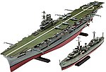 HMS Ark Royal/Tribal Class Destroyer -- Plastic Model Military Ship Kit -- 1/720 Scale -- #05149