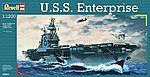 USS Enterprise Aircraft Carrier -- Plastic Model Military Ship Kit -- 1/1200 Scale -- #05801