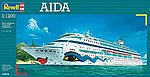 Aida Cruiseship -- Plastic Model Commercial Ship Kit -- 1/1200 Scale -- #05805