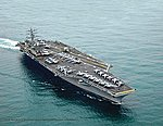 USS Nimitz CVN-68 -- Plastic Model Military Ship Kit -- 1/1200 Scale -- #05814
