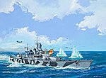RN Roma -- Plastic Model Military Ship Kit -- 1/1200 Scale -- #05821