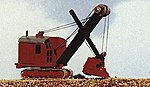Construction Equipment Bucyrus Excavator Shovel -- Model Railroad Vehicle -- N Scale -- #2121