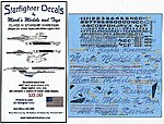 Star Trek Class IX Starships for AMT & PLL -- Plastic Model Aircraft Decal -- 1/1000 Scale -- #100