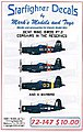 F9F Panthers Pt.2 Marines over Korea for HBO -- Plastic Model Aircraft Decal -- 1/72 -- #72147