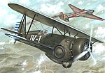 Hawk III Model 68 1st Chinese Ace BiPlane Fighter -- Plastic Model Airplane Kit -- 1/72 -- #72223