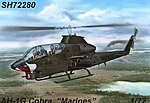 AH1G Cobra Marines Helicopter (New Tool) -- Plastic Model Helicopter Kit -- 1/72 Scale -- #72280