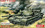 T55AM Soviet Main Battle Tank -- Plastic Model Tank Kit -- 1/35 Scale -- #222